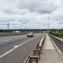 Spūsčių ties Č. Radzinausko tiltu nebėra – remontas baigtas