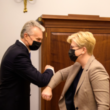 Po beveik trijų mėnesių pertraukos – darbinis G. Nausėdos ir I. Šimonytės susitikimas