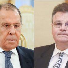 Atsakas S. Lavrovui: Lietuva nesikišo ir nesikiš į Baltarusijos vidaus reikalus