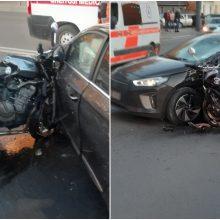 Tragiška avarija Šančiuose: motociklininkas žuvo vietoje