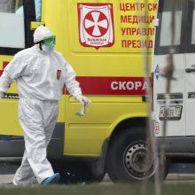 Rusijoje – beveik 21 tūkst. naujų COVID-19 atvejų, 559 pacientai mirė