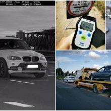 Savaitgalis pareigūnų akimis: lakstūnas su BMW, važiavę A juosta ir gerokai įkaušę