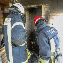 Per gaisrą Biržuose žuvo žmogus