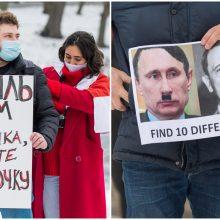Po A. Navalno sulaikymo – piketas prie Rusijos ambasados Vilniuje (atnaujinta)