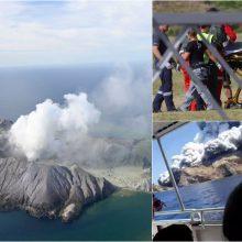 Naujosios Zelandijos ugnikalnio išsiveržimo aukų daugėja