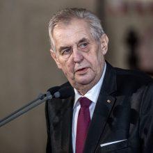 Gydytojai: hospitalizuotas Čekijos prezidentas negali vykdyti pareigų