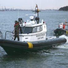 """Operacija: šiemet, kaip ir pernai, Viduržemio jūroje patruliuos pasieniečių kateris """"Boomeranger 1100""""."""