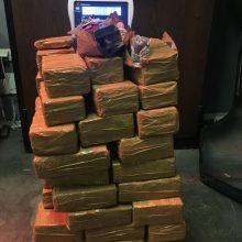 Muitinėje sulaikyta šimtai kilogramų narkotikų, saldumynų ir raketų sistema