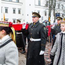 Minint Lietuvos vėliavos iškėlimo Gedimino pilies bokšte šimtmetį pagerbta trispalvė