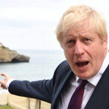 """B. Johnsonas: """"Brexit"""" be susitarimo atveju JK neketina apmokėti """"skyrybų"""" sąskaitos"""