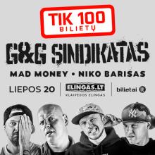 """Į """"G&G Sindikato"""" koncertą – tik 100 bilietų"""