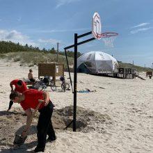 Uostamiesčio paplūdimiuose – daugiau pramogų