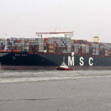 Atplaukė didžiausias uosto istorijoje laivas