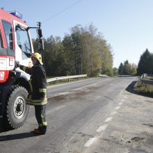 Klaipėdos policijos viršininko pavaduotojui pasipainiojo sunkvežimis