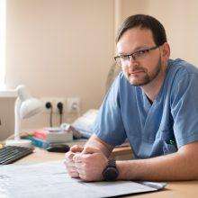Nūdiena: pasak skyriaus vedėjo M.Šikšniaus, ligoninėje taikomi naujausi diagnostikos ir gydymo metodai.
