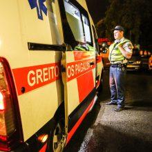 Panevėžyje į ligoninę išvežtas automobilio nesuvaldęs jaunas vairuotojas