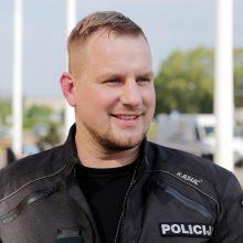 Priekaištai: kelių policininkų vadas M.Džermeika po darbo sulaukė miesto mero skambučio.