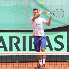 Tenisininkas L. Grigelis Italijoje žengė į dvejetų varžybų ketvirtfinalį