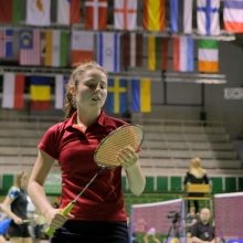 Badmintonininkė V. Fomkinaitė Europos žaidynėse lieka be pergalių