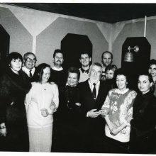 """Klubas: dienraščio """"Klaipėda"""" žurnalistai viešbutyje """"Nesė"""" rengdavo susitikimus su įdomiais miesto žmonėmis."""