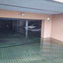 Daugiabučio garaže uostamiestyje – potvynis