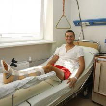 Išgelbėjo: Sergejus spėjo, kad nuo rimtesnių sužalojimų jį apsaugojo speciali apranga ir saugus greitis.