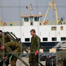 Karo ir kruizinių laivų terminale prasidėjo Uosto apsaugos pratybos