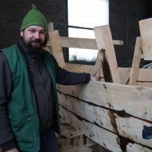 Įkvėpta: Kėdainių vytinė atsiranda laivų statybos entuziasto D. Petkevičius dėka.