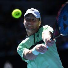 Tenisininkas R. Berankis ATP reitinge prarado vieną poziciją