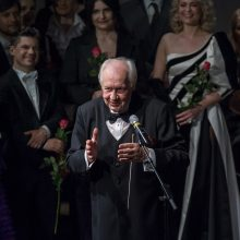 S. Domarkas – pirmasis Klaipėdos valstybinio muzikinio teatro Garbės dirigentas