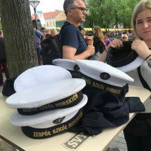 Svečiai: lenkų jūrinis jaunimas Klaipėdoje.