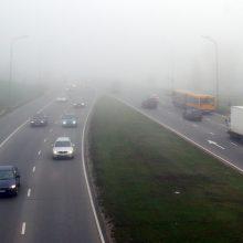 Vilniaus, Utenos, Panevėžio, Šiaulių ir Tauragės apskritis gaubia rūkas