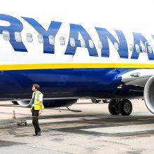 """""""Ryanair"""": lėktuvų įgulų streiko metu skrydžių sutrikimų neturėtų būti"""