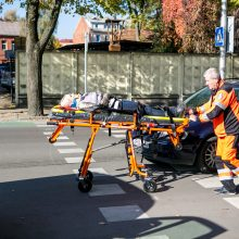 Miesto centre partrenkta perėja ėjusi pėsčioji, vairuotojas neblaivus