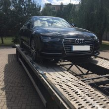 """Pasieniečiai sulaikė Prancūzijoje pavogtą """"Audi"""""""