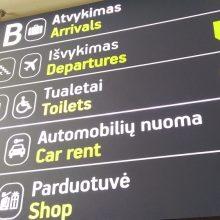 Vilniaus oro uoste sulaikyti dėl nusikaltimų ieškoti du kauniečiai