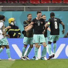Europos futbolo čempionatas: Austrijos rinktinė pranoko Šiaurės Makedoniją