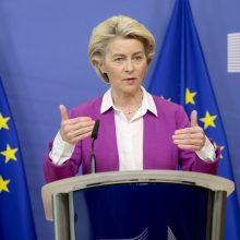 EK vadovė: Briuselis neleis Lenkijai sukelti pavojaus ES vertybėms