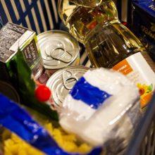 Nepasiturintiems gyventojams – gausus maisto produktų ir higienos prekių krepšelis