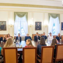 D. Grybauskaitė susitiko su pasaulio lietuvių jaunimo atstovais