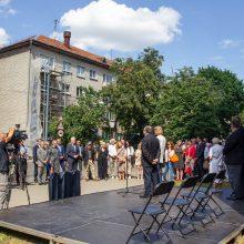 Vilniuje atidengta YIVO instituto atminimo lenta