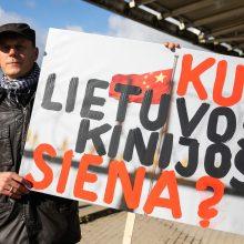 Komunistinei Kinijai minint 70-metį – protestuotojų Vilniuje įspėjimas