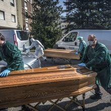 Mirties nuo koronaviruso atvejų skaičius Europoje viršijo skaičių Azijoje