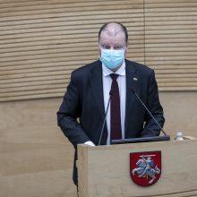 S. Skvernelis: panašu, kad artimiausiu metu opozicijos lyderio nebus