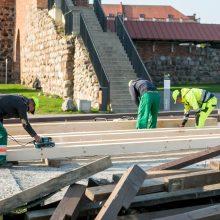 Kauno pilies pėsčiųjų tilto remontas: kas bus daroma?