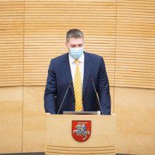 Seimo vicepirmininkas: komendanto valanda turėtų būti viena iš pirmųjų būtinų priemonių
