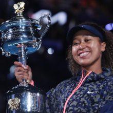 "N. Osaka antrą kartą karjeroje laimėjo ""Australian Open"""