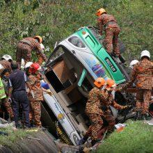Malaizijoje sudužus autobusui žuvo 10 žmonių
