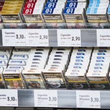 Vyriausybė pritarė siūlymui uždrausti pardavimo vietose eksponuoti tabako gaminius