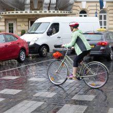 Vyriausybė – už leidimą dviratininkams važiuoti per perėjas